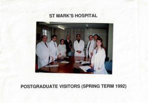 il Dott. Nemati al St Mark's Hospital di Londra, uno tra i più importanti centri per la proctologia a livello internazionale
