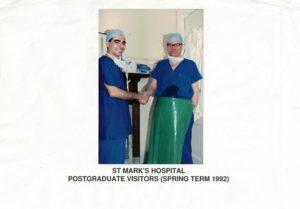 il Dott. Nemati al St Mark's Hospital di Londra, dopo aver eseguito un intervento di chirurgia