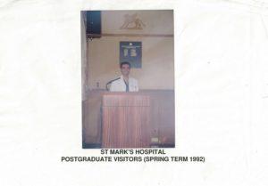 il Dott. Nemati al St Mark's Hospital di Londra, nel 1992